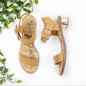 Sam Edelman | Tan Trina Sandals w Gold Heel
